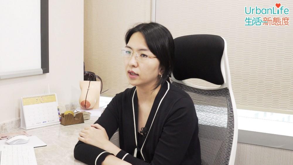 外科專科鄭紫翎醫生講解乳癌相關知識。