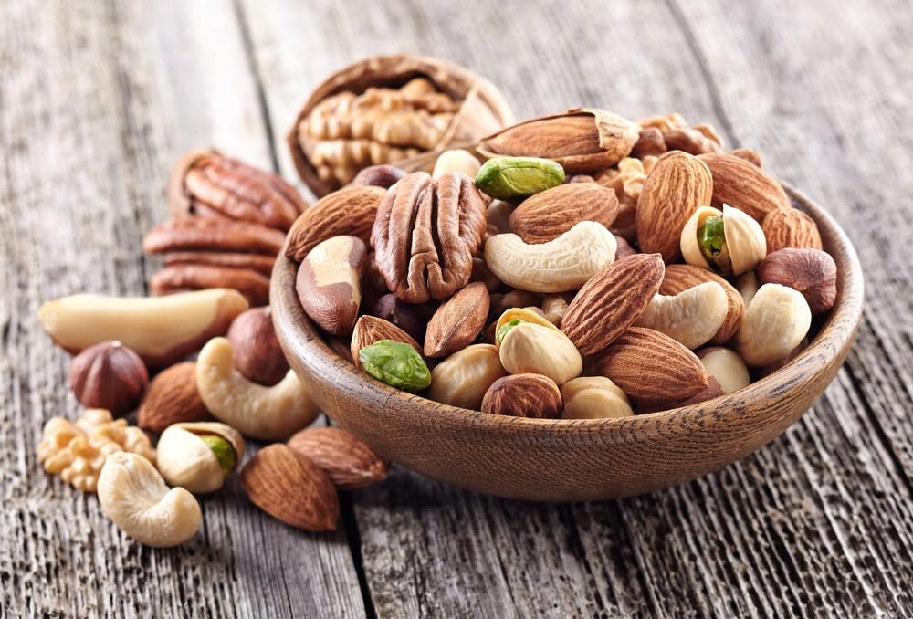 果仁含有大量膳食纖維,升糖指數為55或以下。