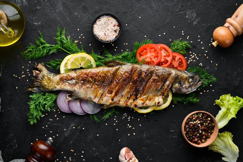 虹鱒含有豐富的蛋白質、 健康脂肪和維他命B。