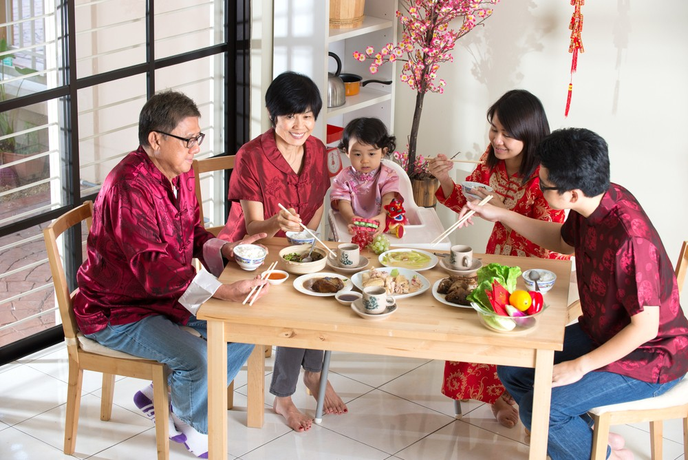 Chinese new year gathering