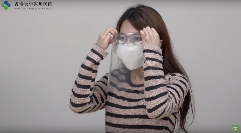 香港大學深圳醫院聯同消委會等機構教你自製口罩