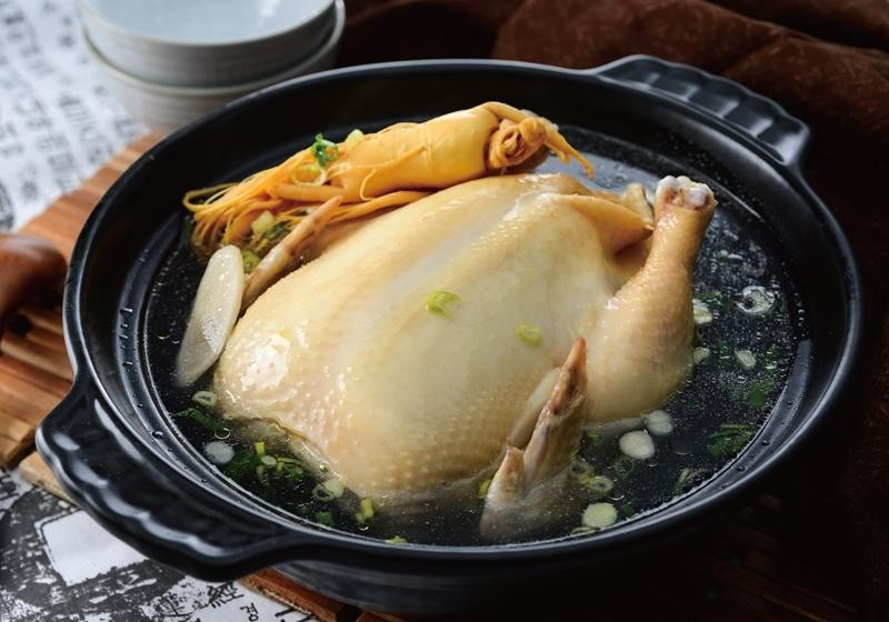 人參糯米雞湯