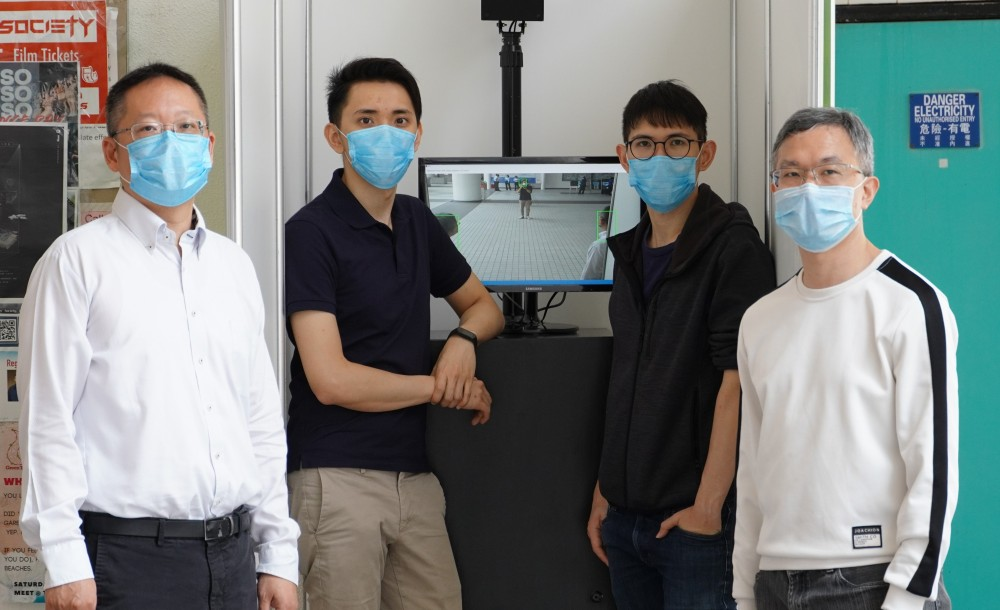 科大研究團隊研發了一套透過人工智能偵測發燒人士的監察系統。
