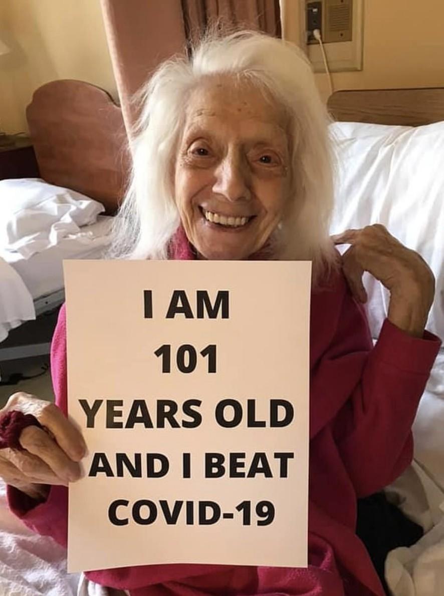 新型肺炎疫情持續。美國有一名年屆101歲的婆婆以往曾經歷過癌症、流產、敗血病,但她都一一克服了,而早前亦打敗了新型肺炎,成功康復,令人鼓舞。