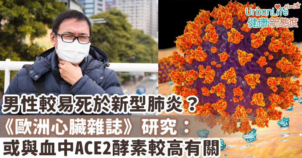 【新型肺炎】男性較易死於新型肺炎?《歐洲心臟雜誌》研究:或與血中ACE2酵素較高有關