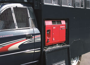 1 KVA Genset & Wiremesh covered windows