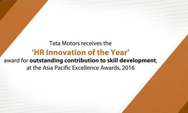 Award for skill development programme in India
