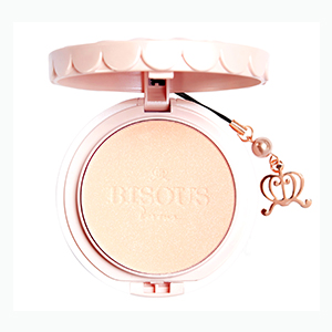 bisous bisous rainbow cluster crystal powder pact