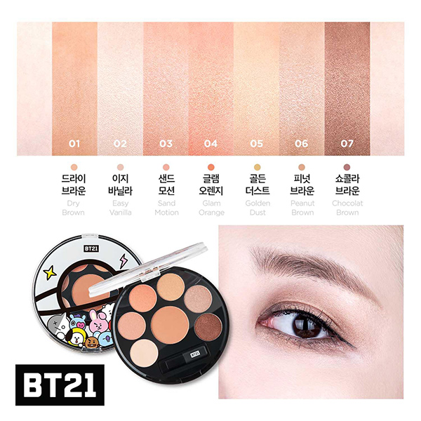 รีวิว VT Cosmetics BT21 Eyeshadow Palette
