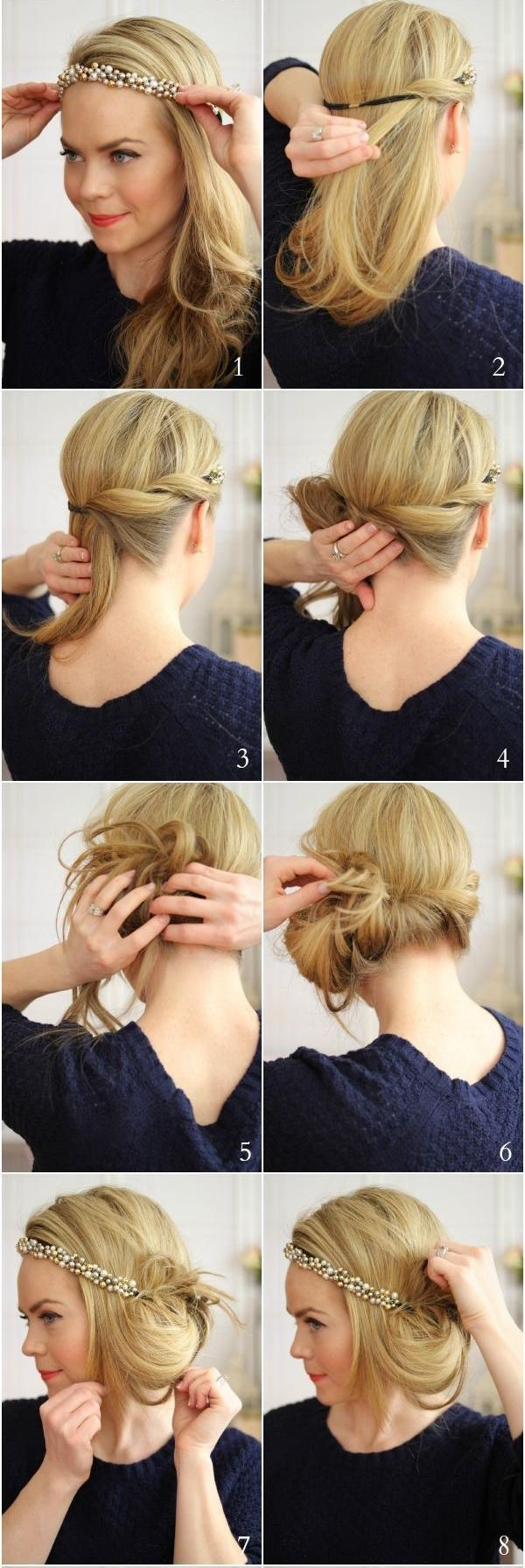 gatsby messy hairstyle step