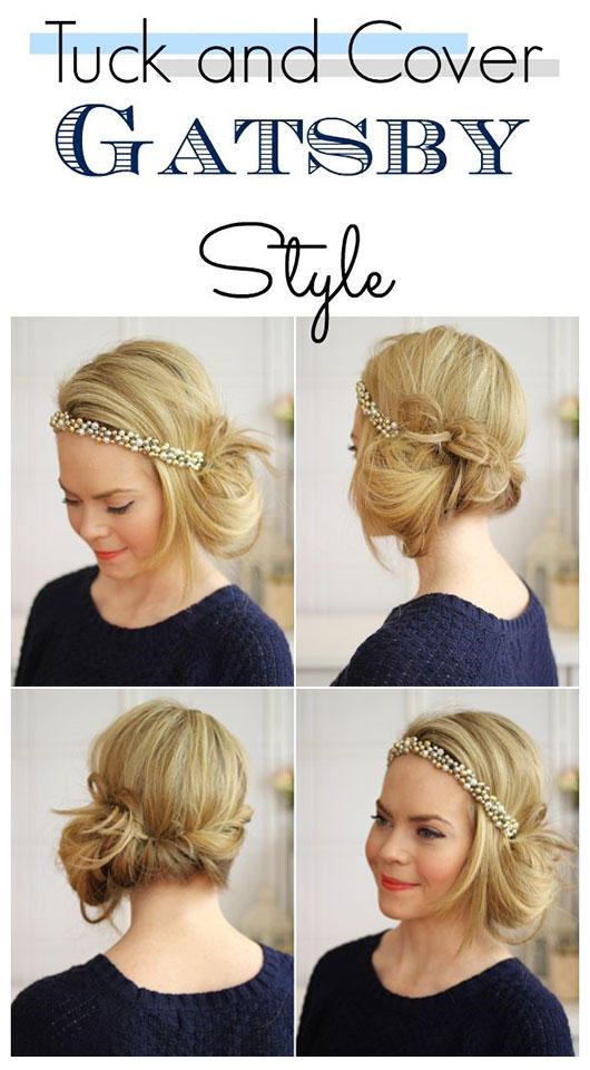 gatsby messy hairstyle