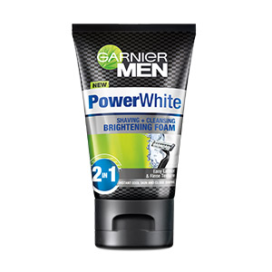 PowerWhite Shaving + Cleansing Brightening Foam