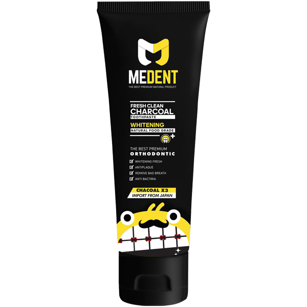 MEDENT Fresh Clean Charcoal Toothpaste