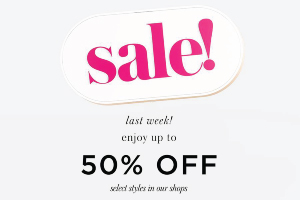 KATE SPADE NEW YORK : End of Season Sale...last week!