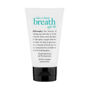 Take a Deep Breath SPF 30 : Broad Spectrum SPF 30 Sunscreen Oil-Free Oxygen Moisturizer