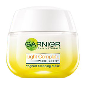 Light Complete White Speed Night Yohgurt Sleeping Mask
