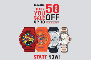 CASIO THANK YOU SALE up to 50%