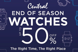 CENTRAL/ZEN END OF SEASON WATHCES UP TO 50% OFF