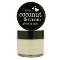 Coconut & Cream glossy lip balm