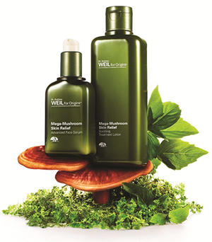 Dr Andrew Weil for Origins Mega Mushroom products Skin Relief Collection Key Visual