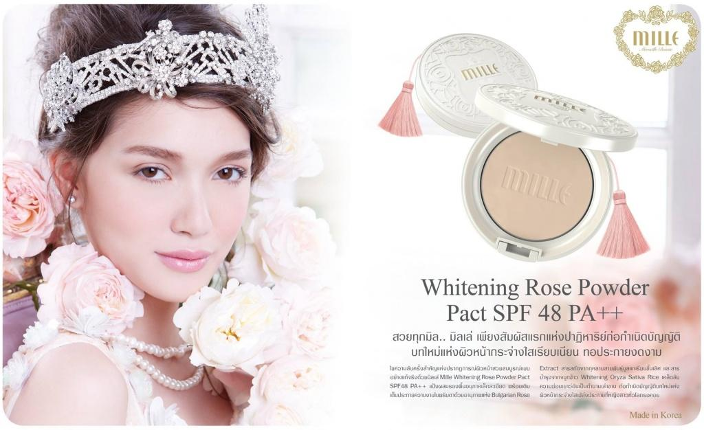 mille whitening rose bb powder pact