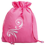 Pink Satin Drawstring Bag