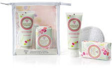 Scented hand cream, scented soap & sponge