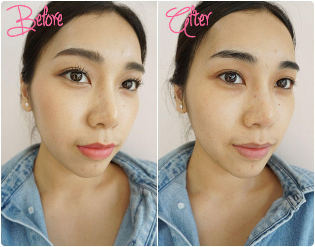 before after positif cleansing oil