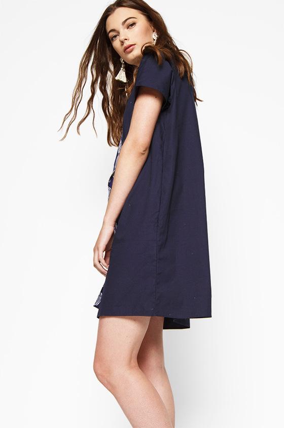 Christel. Dress with Contrast Flap 7bb4dd14b