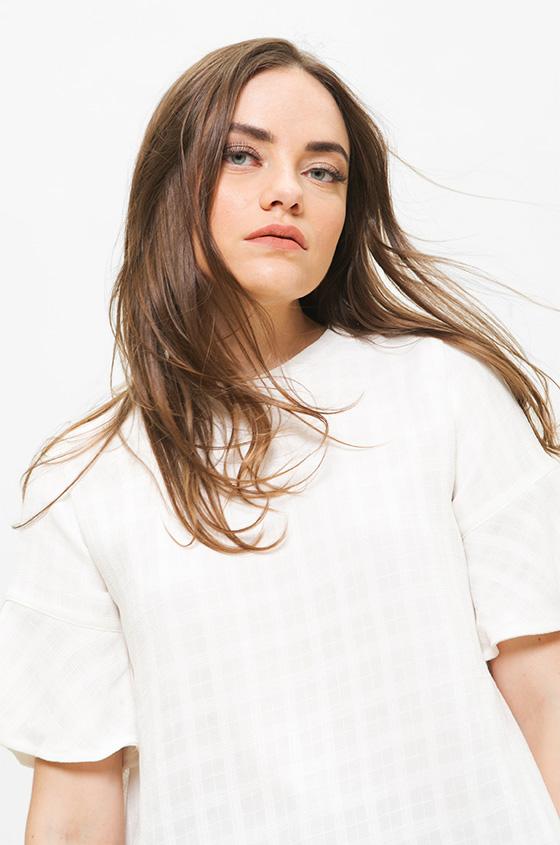 33068788b7f71e Woven Blouse Off-White Tina   COTTONINK