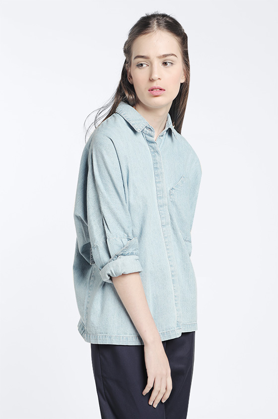 8f0debacc1 Woven Shirt Washed Denim Devon