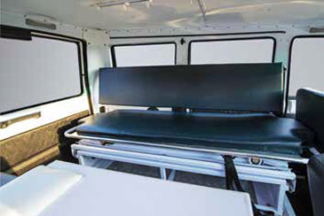Spacious Interiors with provision for one oxygen cylinder