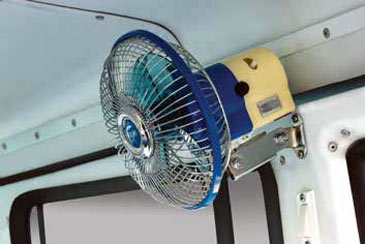 Tata Sumo Ambulance Fan in Passenger Compartment