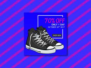 Shoes Sale Off Social Media Template