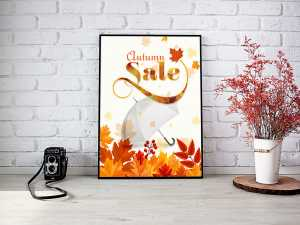 Autumn sale Poster Templates