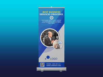 Best Business Services Provides Rollup banner, business, corporate, company, event, service, marketing, man, rollup, standee