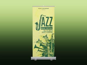 Jazz Music Festival – Rollup banner