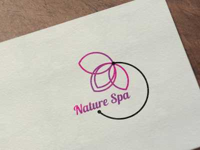 Nature Spa Logo Design, spa, beauty, nature, flower, purple, logo, design
