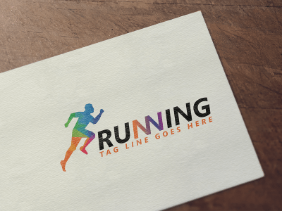 Running Logo Design, run, running, logo, color, marathon, design