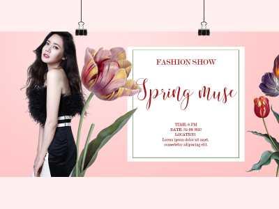 fashion show spring social media design template
