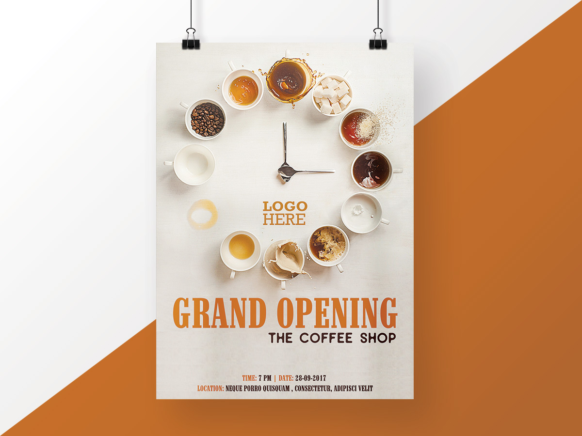 Coffee Shop Opening Poster Xcreative