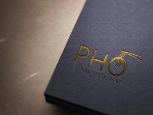 """Pho"" Vietnam Restaurant Logo"