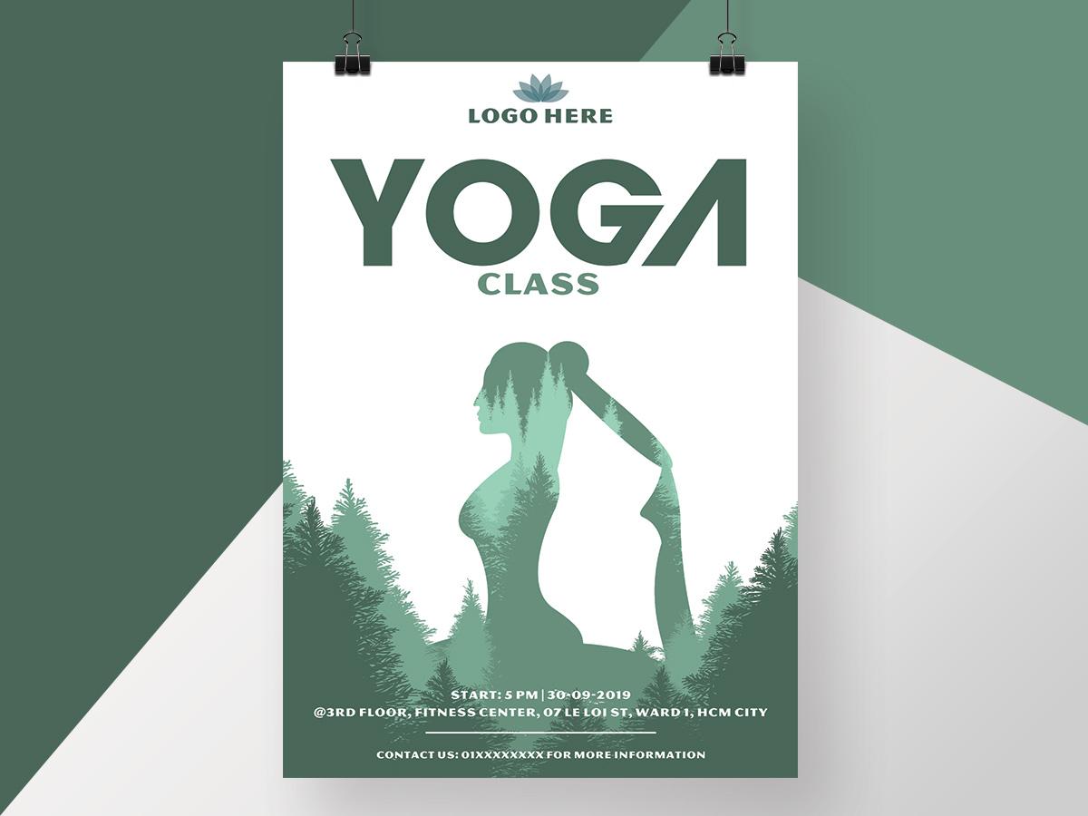 yoga, class, yoga class, poster, flyer, maketing, heathy, fitness