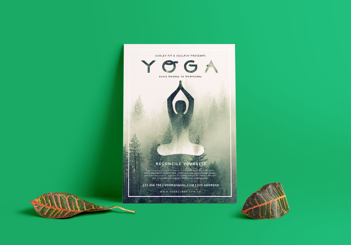 yoga, class, yoga class, poster, flyer, maketing, heathy, fitness