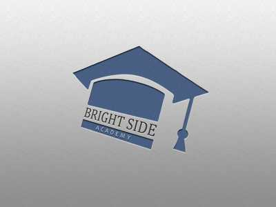 Academy, logo, bright side, school, university, college, student, teacher, design, template