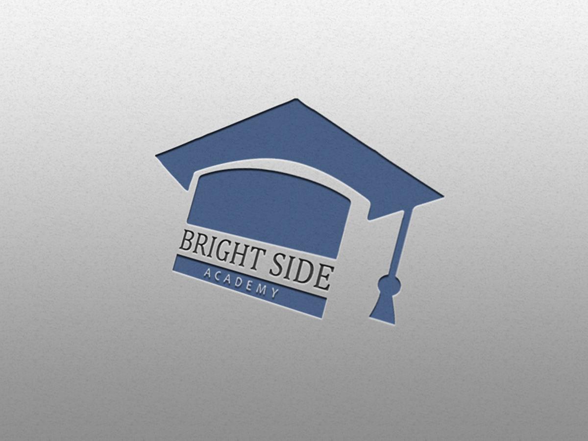 Academy, logo, bright side, school, university, college, student, teacher, design, template