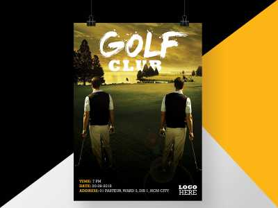 golf, club, sunset, poster, flyer, man, luxury, sport