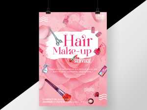 Pink Hair and Make-up service Poster