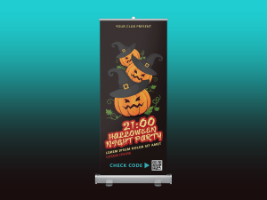 Halloween Night Party – Rollup banner