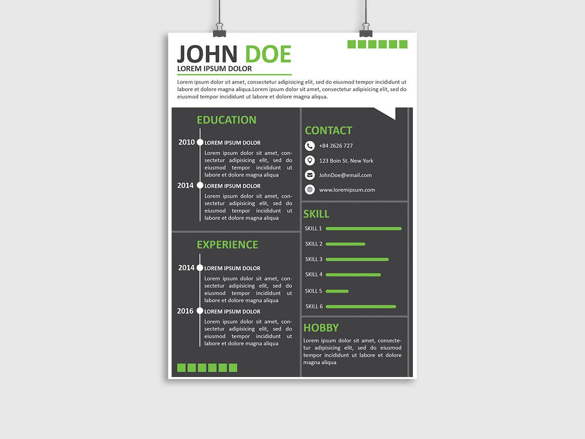 Resume CV Templates, resume, cv, templates, creative, modern, black, green